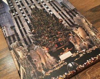 Rockefeller Christmas Tree Wrap Around Canvas Print - Rockefeller Center, New York - Tristan Luker Photography