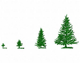 Growing Trees Embroidery Design - Instant Download