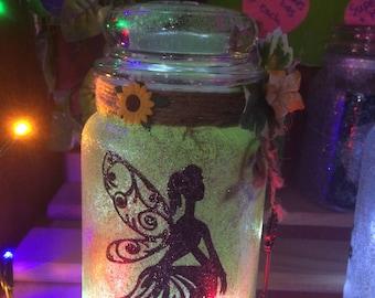 Woodland Fairie Silhouette Jar