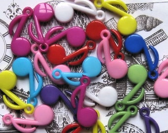 SALE 15 Colorful Music Note Charms K048