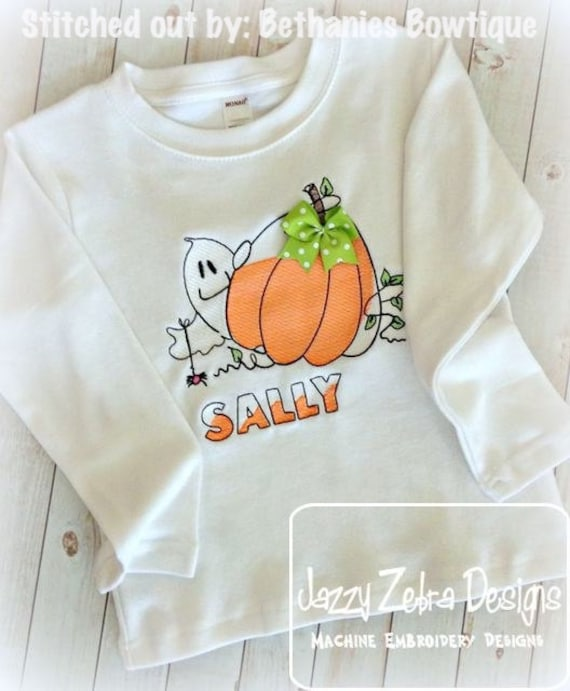 Ghost and Pumpkin Sketch Embroidery Design - Halloween Sketch Embroidery Design - pumpkin Sketch Embroidery Design - ghost Sketch Embroidery