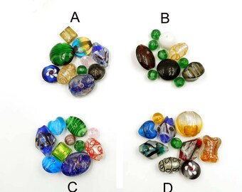 10 Assorted Glass Beads - 31-22