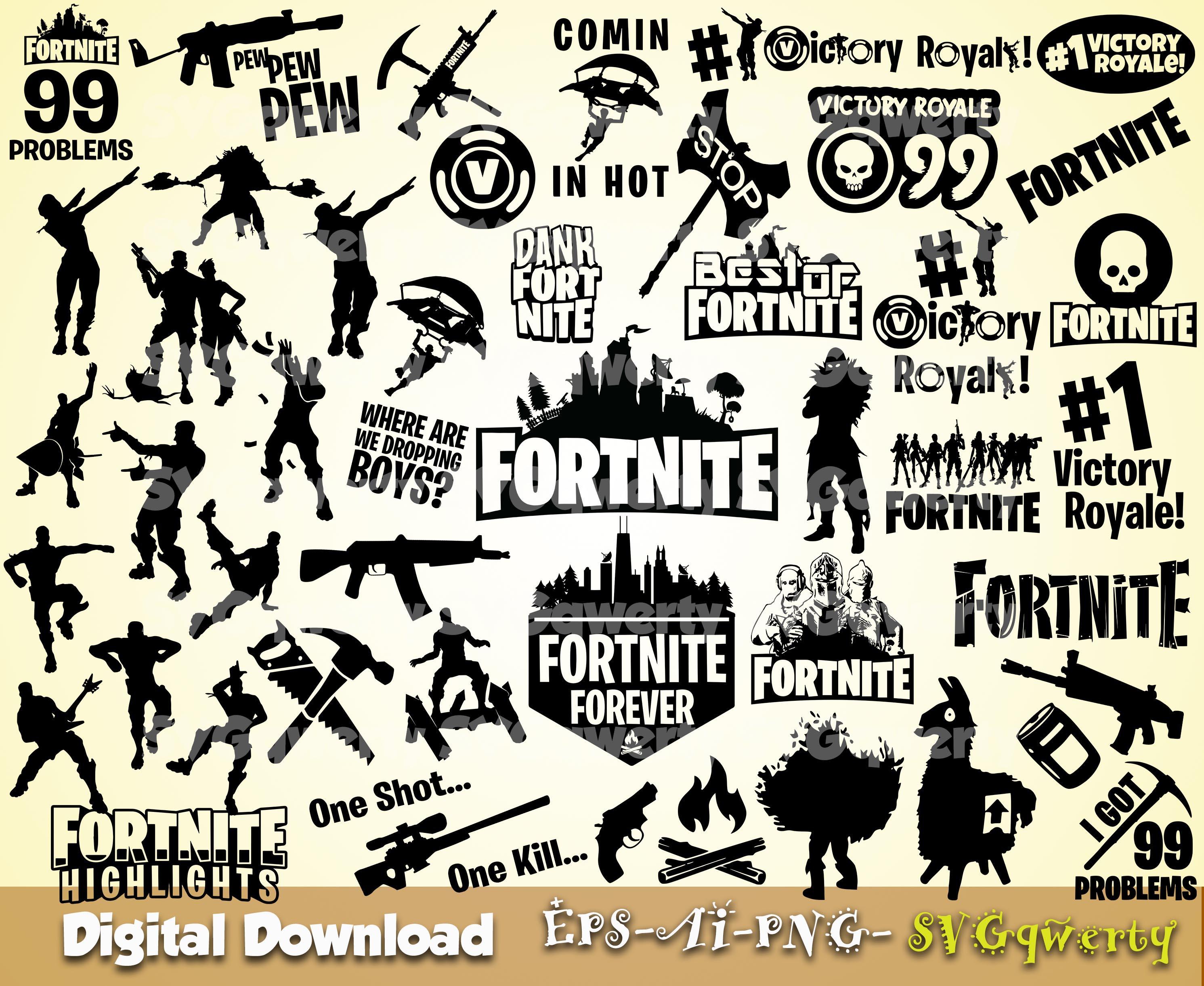 Download Fortnite svg, Victory Royale svg, Game svg, Printable, Cut ...