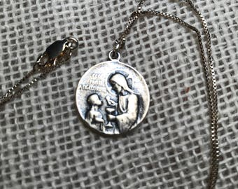 Sterling Silver First CommunionNecklace, Catholic Jewelry, Christian Jewelry