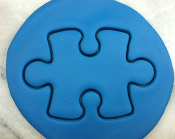 Puzzle Piece #1 Cookie Cutter - SHARP EDGES - FAST Shipping - Choose Your Own Size!