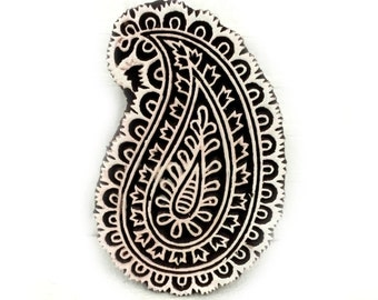 Paisley stamp, Wood carved stamp, paisley wood stamp, indian wood stamp, fabric stamp, fabric printing stamp, scrapbook stamp, pottery stamp