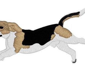 Beagle Running Embroidery File