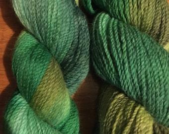 hand dyed Angora/Merino DK weight yarn