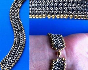 Chainmaille Bracelet/Beaded Mesh Bracelet