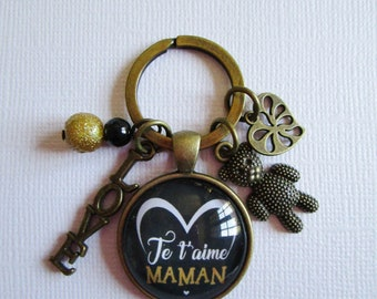 "Keychain ""I love you MOM"", bronze"
