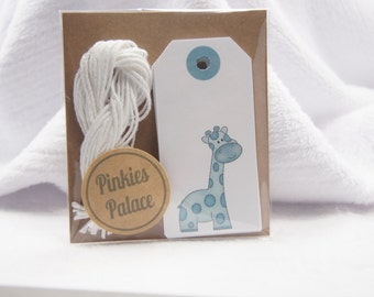Baby Shower Wish Tree Favor Tags Giraffe Set of 12