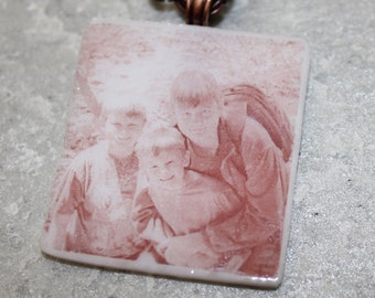 Keepsake Pendant.  Custom Photo on a Glass Pendant - You Supply the Picture