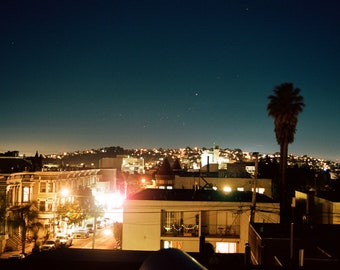 San Francisco by night, color photograph