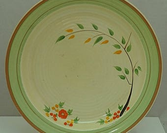 C1939 Art Deco CLARICE CLIFF Newport Pottery Summers End Large Dinner Plate Lynton Shape