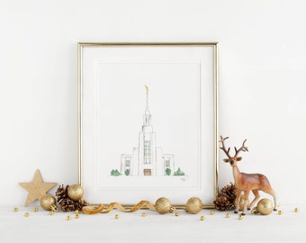 Twin Falls Idaho Temple - Original Watercolor