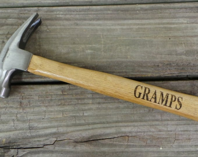 Engraved Wooden Handled Hammer - Personalized Hammer - Gift for Granddad - Gift for Dad - Groomsmen Gift