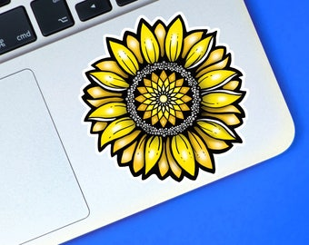 Vinyl Sticker, Sunflower Sticker, Bohemian, Mindfulness Gift, Laptop Sticker, Instant Pot Decal, Yeti Decal, Flower Sticker, Sunflower Decal