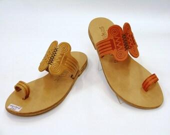 "Greek Leather Sandals ""daphne"" code #152"