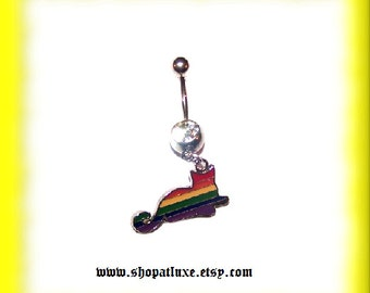Rainbow Cat Belly Ring