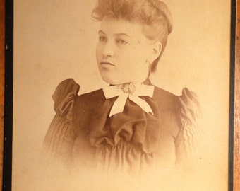 antique photograph card stubborn woman Buffalo NY photographer