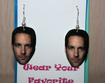 Paul Rudd Dangle Earrings Celebrity Inspired Jewelry