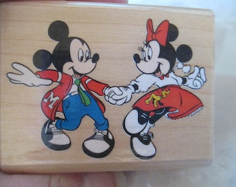 "Rubber Stamps Disney "" At The Hop "" For card making  Slightly used good condition"