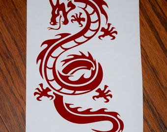 Dragon Decal, Dragon Sticker, Dragon Car Decal, Dragon Laptop Decal, Serpent Dragon Decal, Vinyl Decal, Car Sticker, Laptop Sticker