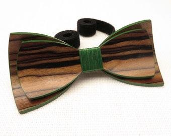 Beautiful Wood Bow Tie 0034