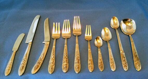 Polished 100 Pc Vintage Thai/Siam Flatware/Cutlery