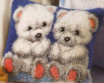 Stitch cushion Kit tied two cubs Vervaco