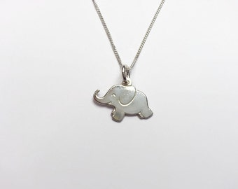 Sterling Silver Elephant Necklace. Elephant pendant necklace. Gift idea for her. UK seller
