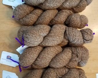 Tan/White 100% Alpaca Yarn