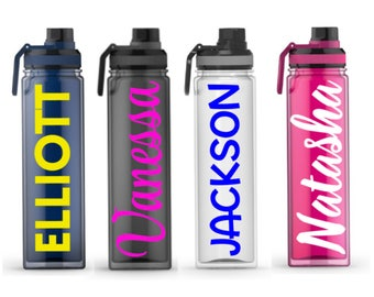 NEW Custom Water Bottles - Personalized Water Bottles - Personalized Bottles - Sports Team Gifts - Bridal Party Gifts - BPA Free Water Bottl