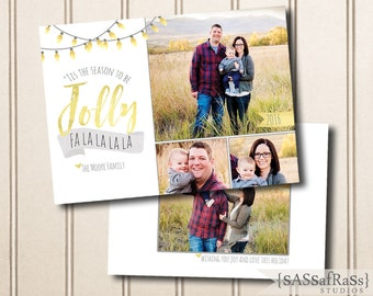 Tis The Season--Christmas Card Template for Adobe Photoshop, Photographer Template, Instant Download, DIY, Commercial Use