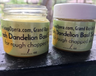 Dandelion Basil Salve-Michigan Wildcrafted- Pesticide-Free