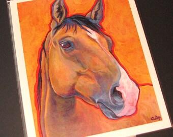 BUCKSKIN HORSE 8x10 Signed Art Print from Painting by Lynn Culp
