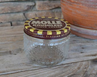 Vintage Molle Shaving Cream Jar with Lid