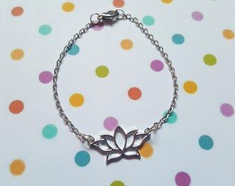 Lotus flower bracelet, Lotus jewellery, Lotus bracelet, Chain bracelet, Lotus flower, Simple chain bracelet, Lotus, Flower