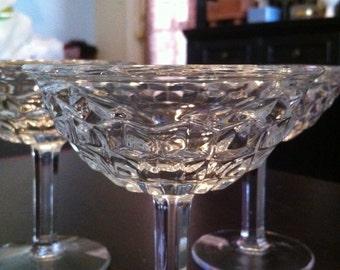 Fostoria American Champagne/Tall Sherbert glasses