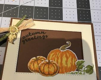 Autumn Greetings - Pumpkins