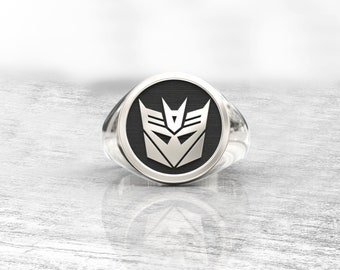 Optimus Prime, Decepticon, Transformers ring, Megatron, transformers 2017, monogram ring, Autobots 5, Transformers Bumblebee, gift
