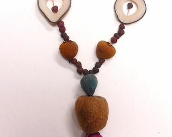 Vintage African Nut Necklace