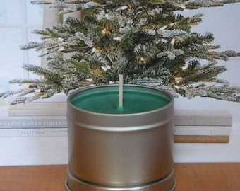 FIR BABY Scented Candles, Evergreen Candles, Homemade Fir Tree Candles, Handmade Soy Wax Candles, Holiday Candles