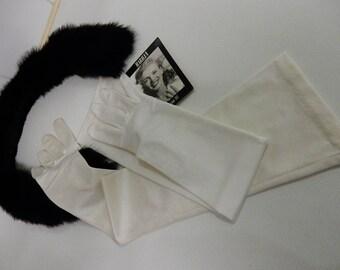 Gloves, Snow White, Elegant, Evening, Vintage.