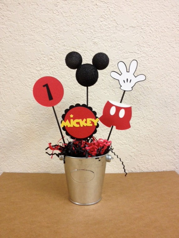 Mickey Mouse Centerpieces Set Of 4 Mickey Baby Shower