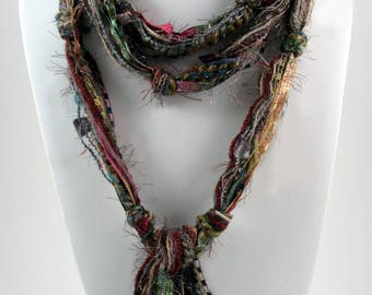 Multi Color Scarf, Skinny Scarf, Skinny Scarves, Womens Scarves, Boho Clothing, Bohemian Scarf, Scarves for Women, Multicolor Scarves