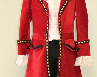 Captain Hook Pirate Costume - Custom Made Mens Sizes, Peter Pan Character Costume, Family Costume Ideas, Pirate Costume, Cosplay Costume