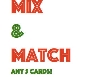 MIX&MATCH Notecards (Pack of 5)