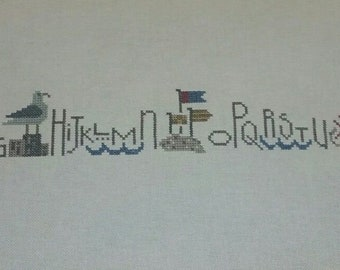 Completed Bent Creek Summer Row Cross Stitch