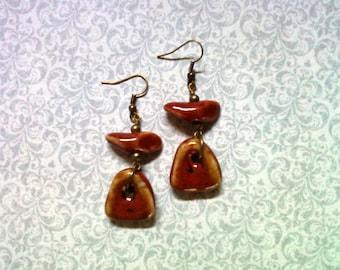 Red Ceramic Earrings (1815)